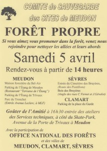 Affiche foret propre 2014