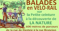 Balades en vélo-rail sur la Petite ceinture