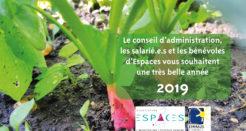Espaces vous souhaite une belle année 2019