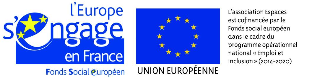 Fonds social européeen, partenaire d'Espaces